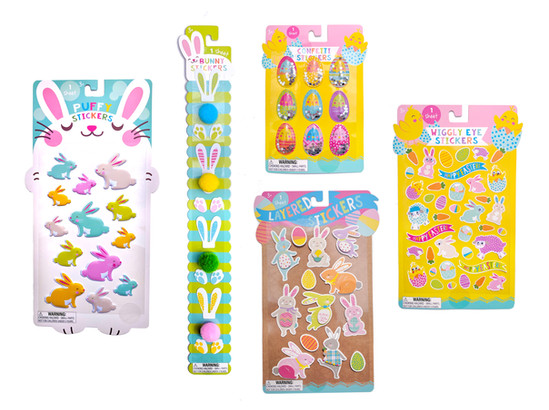 Easter Stickers & Packaging
