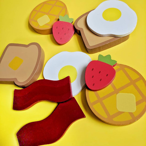 Wooden Breakfast Toys