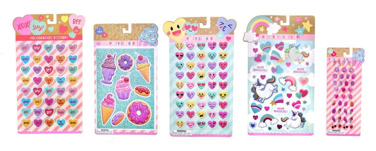 Valentine Stickers & Packaging
