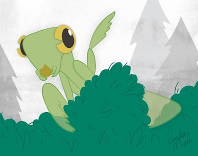Mantis Man Illustration