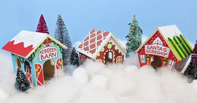 Wooden Christmas Village