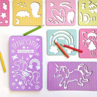 Believe in Magic Unicorn Stencils