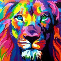 האריה הצבעוני