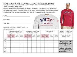 Order form due 7/18/19