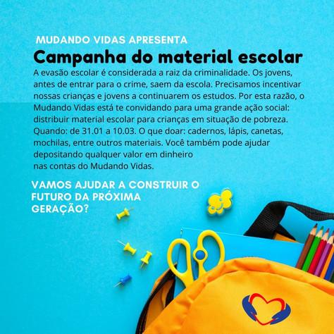 Campanha do Material Escolar