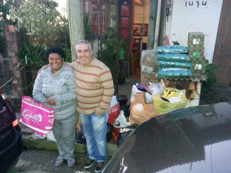 Doação de Cobertores e alimentos