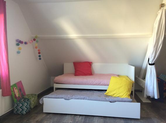 Lit gigogne espace du 1er étage maison de vacances Lysalin
