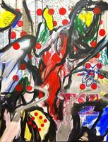 Zoran Poposki, The Apparition of Yayoi Kusama to Domenikos Theotokopoulos known as El Greco