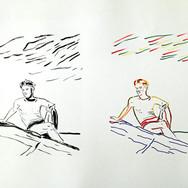 Poposki, On the beach (Truman Kapote), 2014
