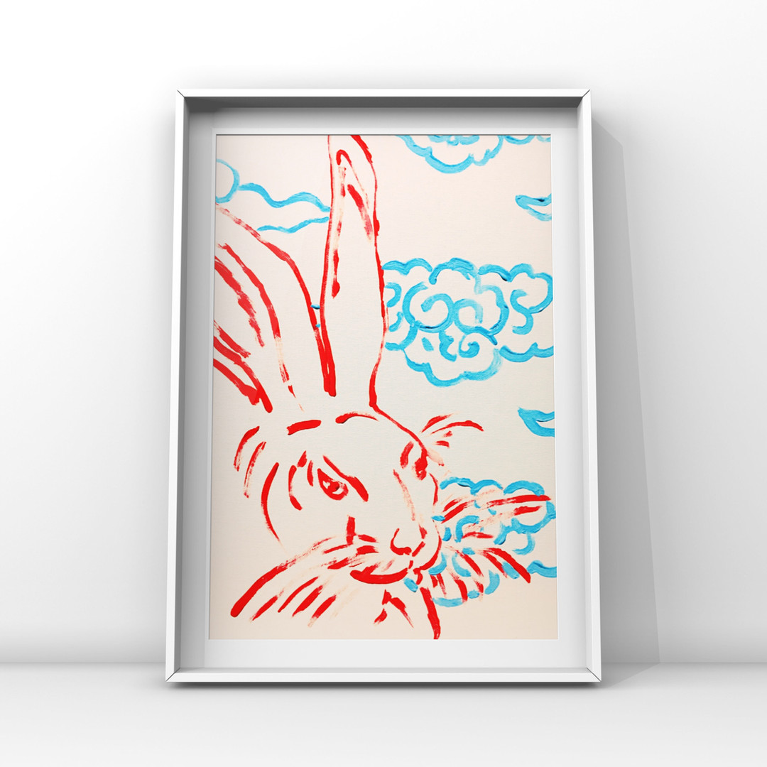 Poposki, Rabbit with Clouds