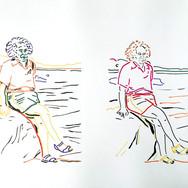 Poposki, On the beach (Albert Einstein), 2014
