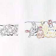 Poposki, On the beach (Jackson Pollock, Clement Greenberg, Helen Frankenthaler, Lee Krasner), 2015