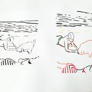 Poposki, On the beach (Jackson Pollock III)