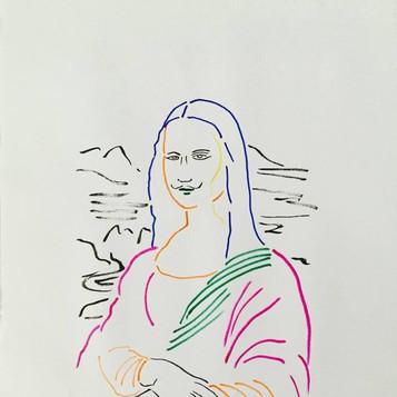 Poposki, Look (after Marcel Duchamp after Leonardo da Vinci)