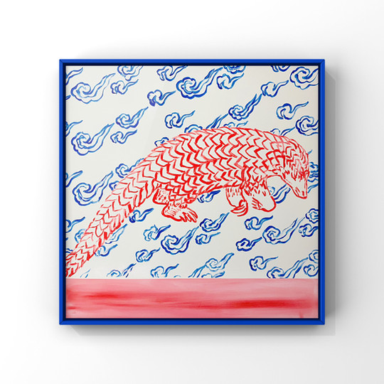 Poposki, Pangolin with Clouds (Anthropocene)