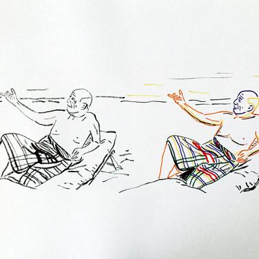 Poposki, On the beach (Pablo Picasso), 2015