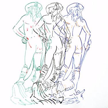 Zoran Poposki, Three Donatello's Davids