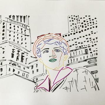 Poposki, Untitled Film Still (after Cindy Sherman)