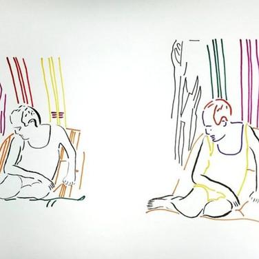 Poposki, On the beach (Theodor Adorno), 2014