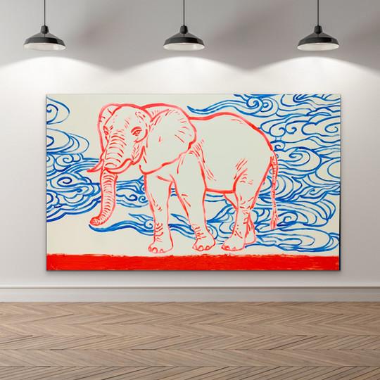 Poposki, Elephant with Clouds