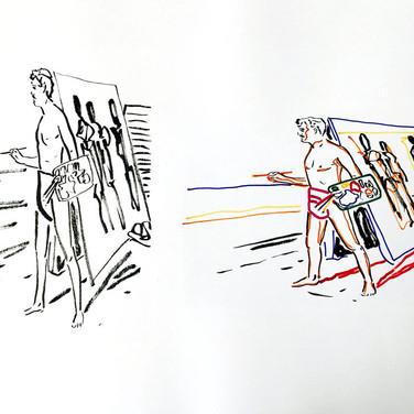 Poposki, On the beach (Edvard Munch), 2015