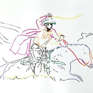 Poposki, Horse II (after Richard Prince after...)