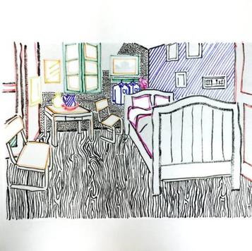 Poposki, Artist's Room (after Roy Lichtenstein after Van Gogh)