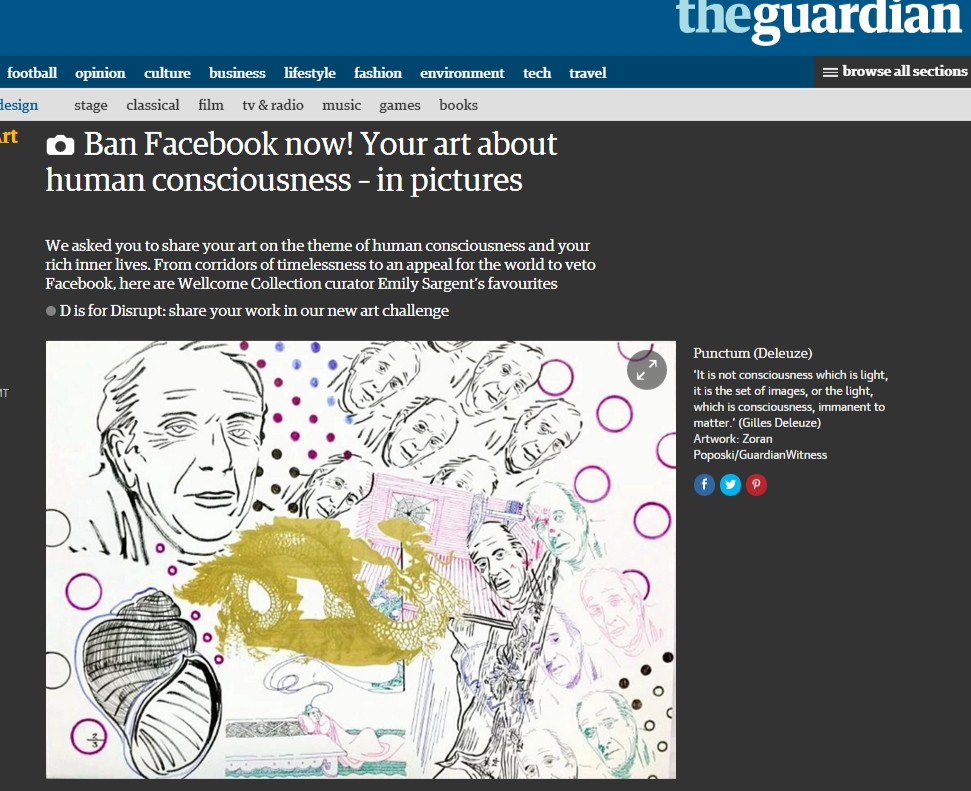 Poposki's Punctum (Deleuze) is featured in Wellcome Collection curator Emily Sargent's favourite art about human consciousness in The Guardian.