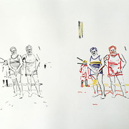 Poposki, On the beach (Ernest Hemingway), 2014