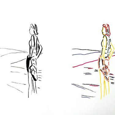 Poposki, On the beach (Anne Sexton)