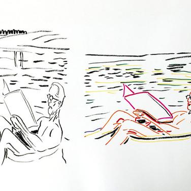 Poposki, On the beach (Le Corbusier)