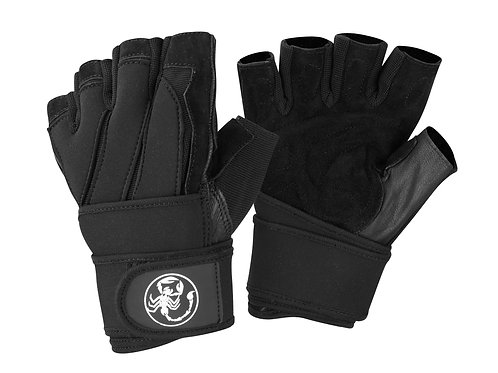 Scorpion Power Lifting Men's Weight Lifting Gloves with Long Wrist Support