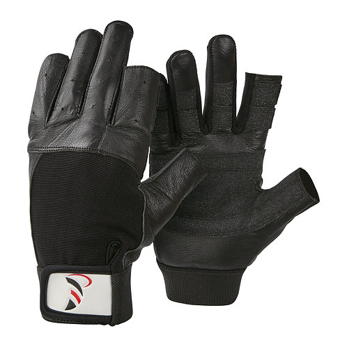 DBSC Short Finger Sailing Gloves Soft Leather Cut Finger