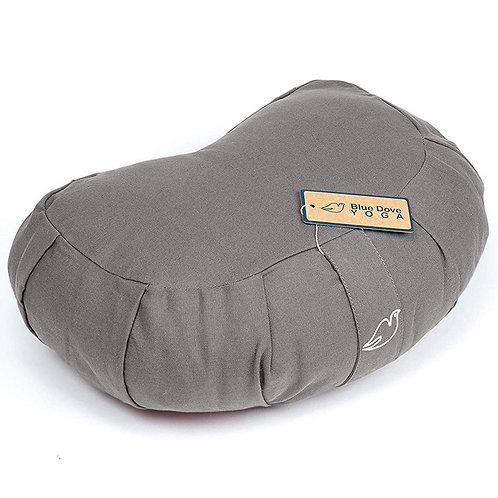 Blue Dove Yoga Organic Cotton  Meditation Cushion Crescent Shape