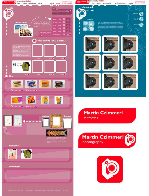 website page layouts