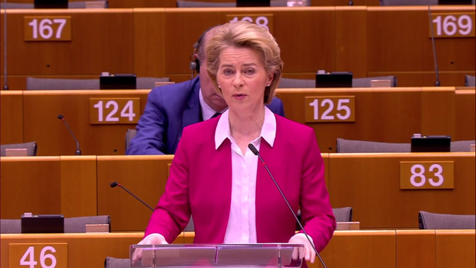 "Von Der Leyen: ""This is Europe's moment"""