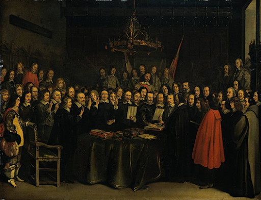 The peace of Westphalia (1648) is recognized as the origin of the principle of national sovereignty.