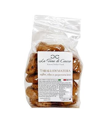Tarallo materano aglio olio e peperoncin