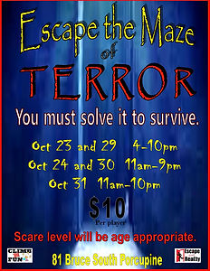 Escpape the maze of terror poster.jpg