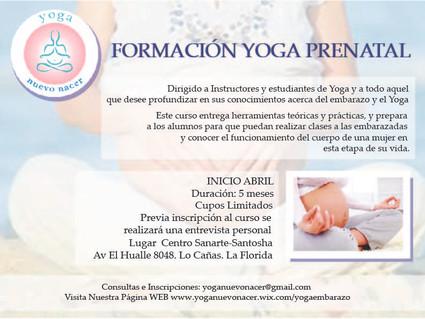 Formación Yoga Prenatal