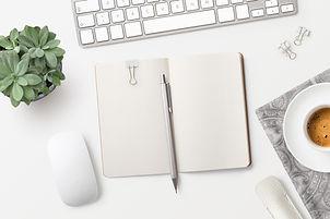 Notizbuch auf dem Tisch