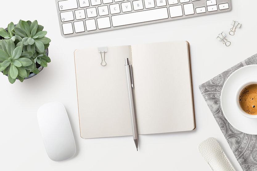 Notepad on Desk