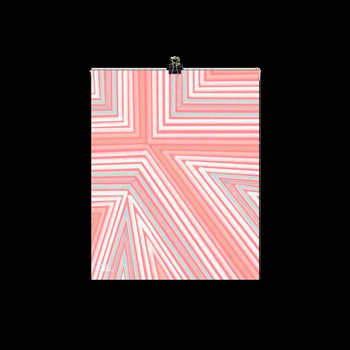 Stripes Pink Print