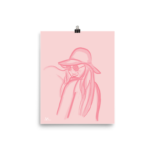 Hat and Sunnies Print