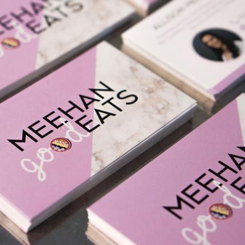 Meehan Good Eats Business Card Design