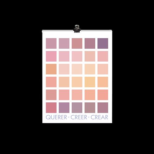 Querer · Creer · Crear Print