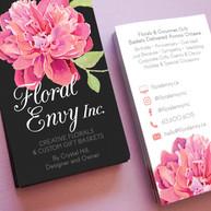 Floral Envy Inc Business Card Design - Ana Steinberg Design