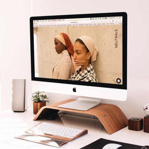 Amina Stores Website - Ana Steinberg Design