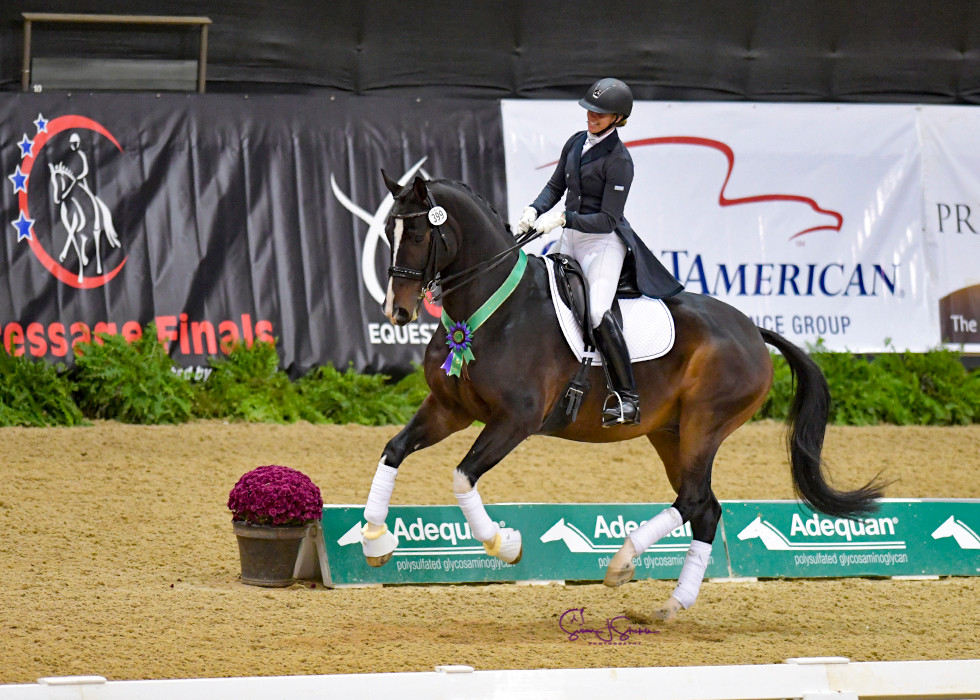 Katelyn and Disco Divo at US Dressage Finals for I1