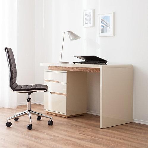 Escritorio Diseño Moderno lacado Beige con Roble Ref: Jeffry (120x48x76)